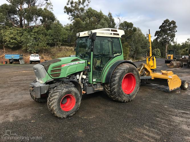 FENDT 211P 110HP Tractor and Lawless Laser Turfgrader 2450 3D GPS