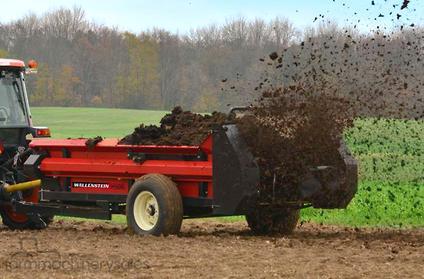 2018 wallenstein mx130 pto manure spreader tillage seeding in new