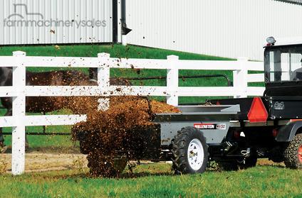 2018 wallenstein mx50p pto manure spreader spreading in new south