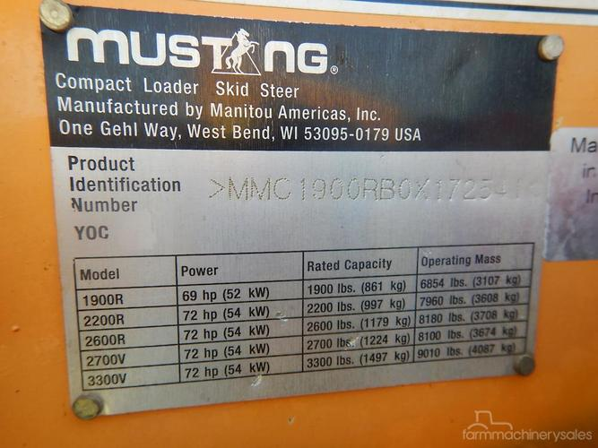 Mustang Farm machinery & equipments for Sale in Australia