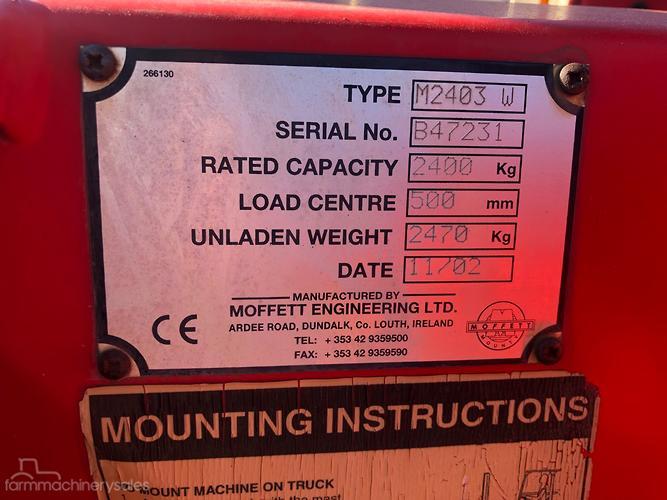 Moffett Farm machinery & equipments for Sale in Australia